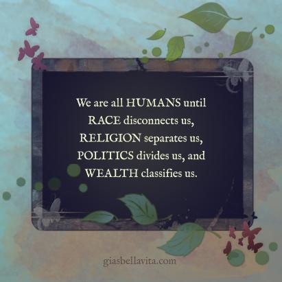 race, religion, politics, wealth
