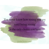 you are strong