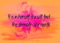 strength she needs