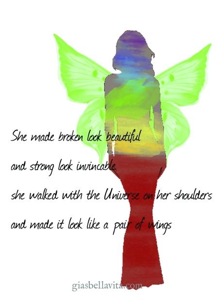 woman's wings