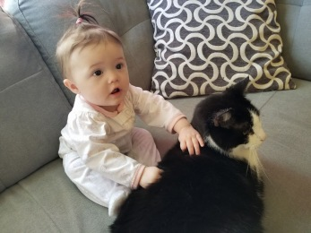 Bella, my granddaughter with Tooney